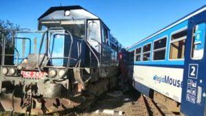 Srážka osobního vlaku s nákladním v Kdyni. Foto: HZS Plzeňského kraje