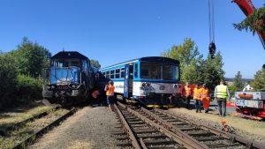 Srážka vlaků v Kdyni. Foto: Drážní inspekce