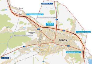 Mapa obchvatu Krnova. Foto: ŘSD