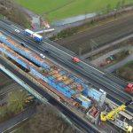 Zaměstnanci Divize 4 se podíleli letos na výstavbě nového dálničního mostu Brücke Bahnhof Hengstey na německé A1. Foto: Metrostav