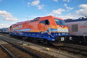 Lokomotiva pro protestní jízdu Berlínem. Foto: NEE