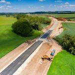 Stavba obchvatu Slaného. Foto: Ředitelství silnic a dálnic