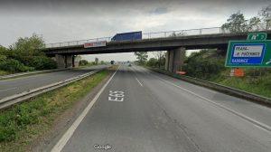 Most v Horních Počernicích přes D10, který čeká rekonstrukce. Foto: Google Street View