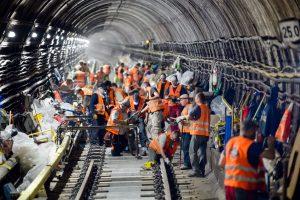 Výměna pražců v pražském metru. Pramen: DPP