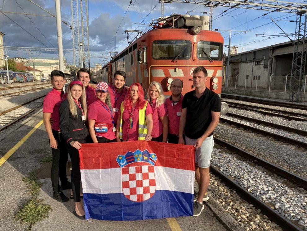 Poslední foto posádky RegioJetu před odjezdem z Rijeky. Foto: RegioJet