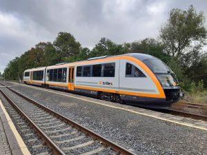 První jednotka Siemens Desiro po modernizaci pro provoz v síti Trilex. Foto: Die Länderbahn