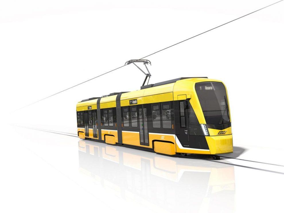 Tramvaj Stadler Tramlink pro Miláno. Foto. Stadler