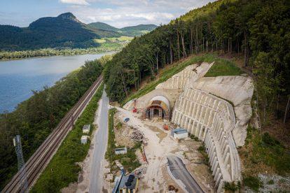 Stavba tunelu Milochov. Foto: Subterra