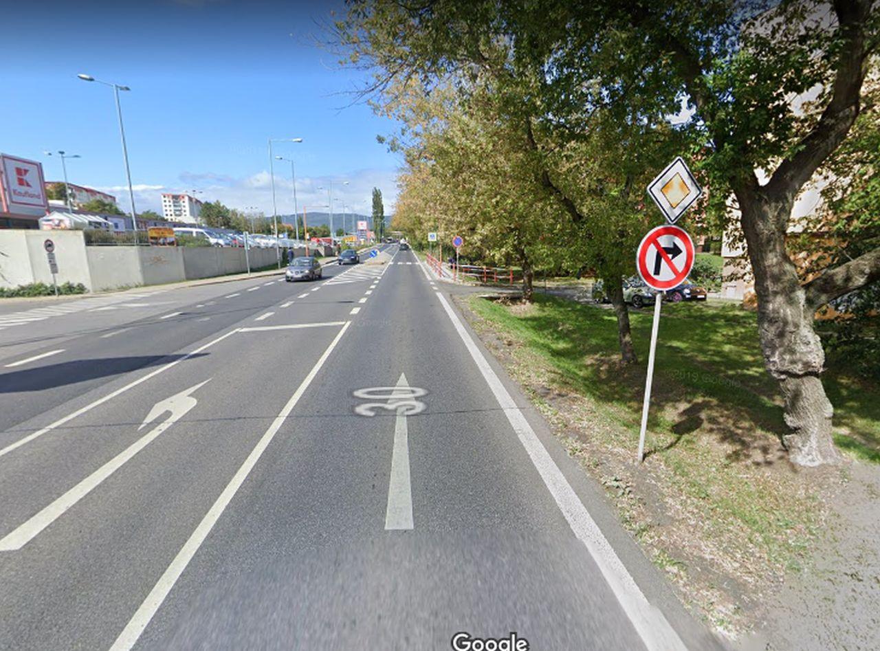 Všebořická ulice v Ústí nad Labem. Foto: Google Street View