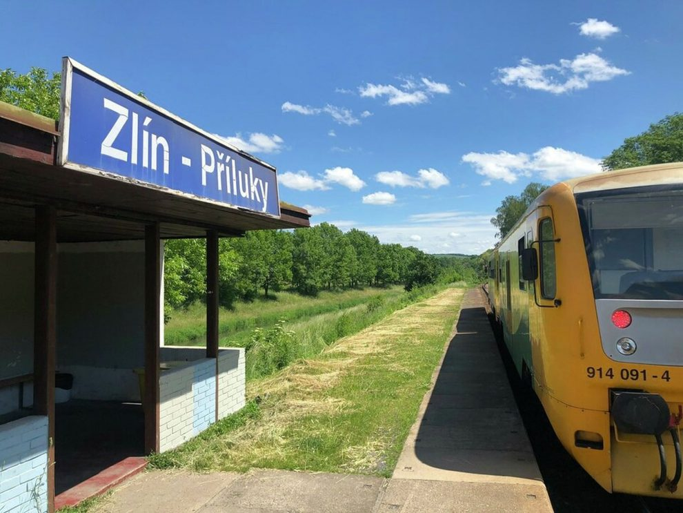 Vlak ve Zlíně. Foto: Twitter Integrované dopravy Zlínského kraje.