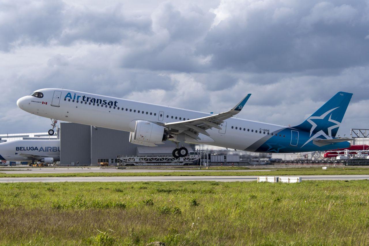 Airbus A321LR v barvách Air Transat. Foto: Airbus