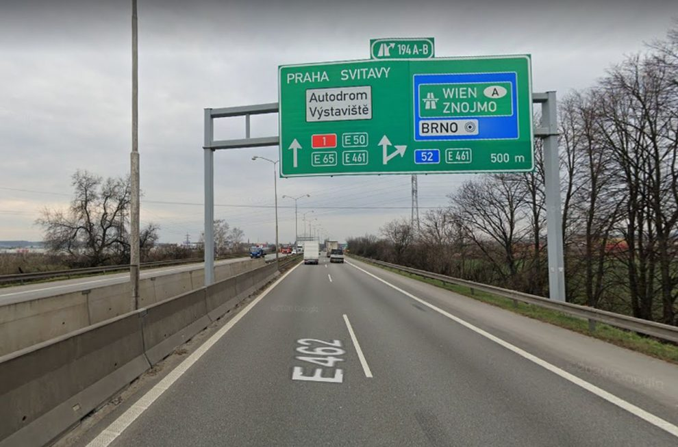 Dálnice D1 u Brna. Foto: Google Street View