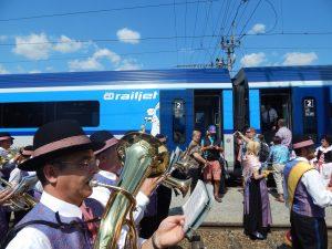 Railjet Českých drah v pohraniční stanici Summerau. Autor: Zdopravy.cz/Jan Šindelář