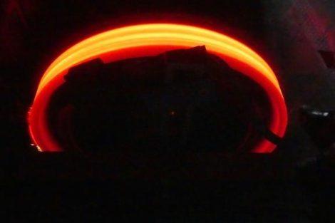 Termomechanická zkouška železničního kola. Foto: VUZ