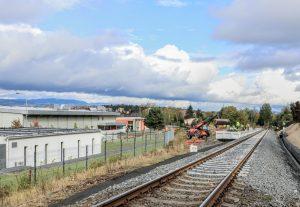 Budování nové zastávky Karlovy Vary - Aréna. Pramen: Správa železnic