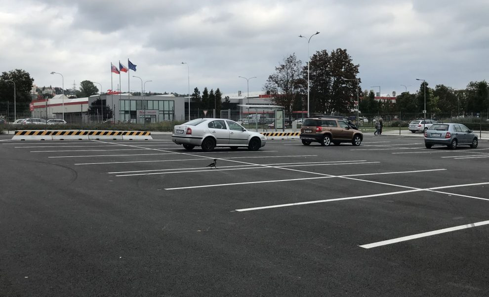 Nové parkoviště P+R v Brně Líšni. Pramen: Město Brno