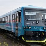 Motorová jednotka 845 Arriva vlaky v Turnově. Foto: Petr Ježek