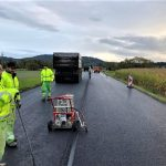 Oprava silnice I/44 v Bludově. Foto: ŘSD