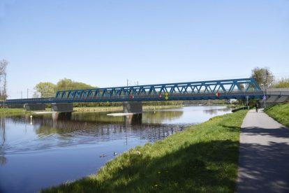 Budoucí železniční most v Čelákovicích. Foto: Správa železnic