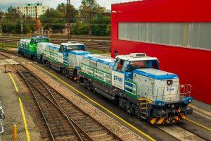 Konvoj lokomotiv EffiShunter 1000 pro FNM a EVM před odjezdem z České Třebové. Foto: Dalibor Palko