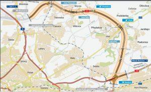 Návrh trasy Pražského okruhu, úsek 520 Březiněves - Satalice