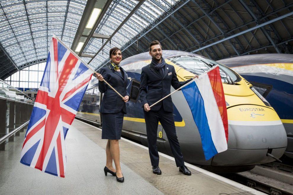 Vlak EuroStar v Londýně na St. Pancar International. Foto: Dutch Embassy in UK
