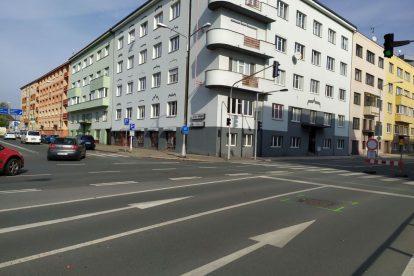 Omezení na městském okruhu v Hradci Králové. Foto: ŘSD