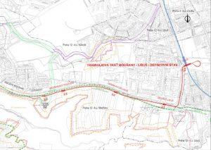 Plán prodloužení tratě z Modřan do Libuše. Foto: DPP