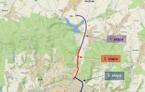 Trasa silnice II/490 mezi Fryštákem a Zlínem.