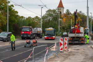 Rekonstrukce Nádražní ulice v Praze. Foto: Ropid