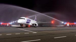 Embraer E170 po přistání v Ostravě. Foto: Letiště Ostrava