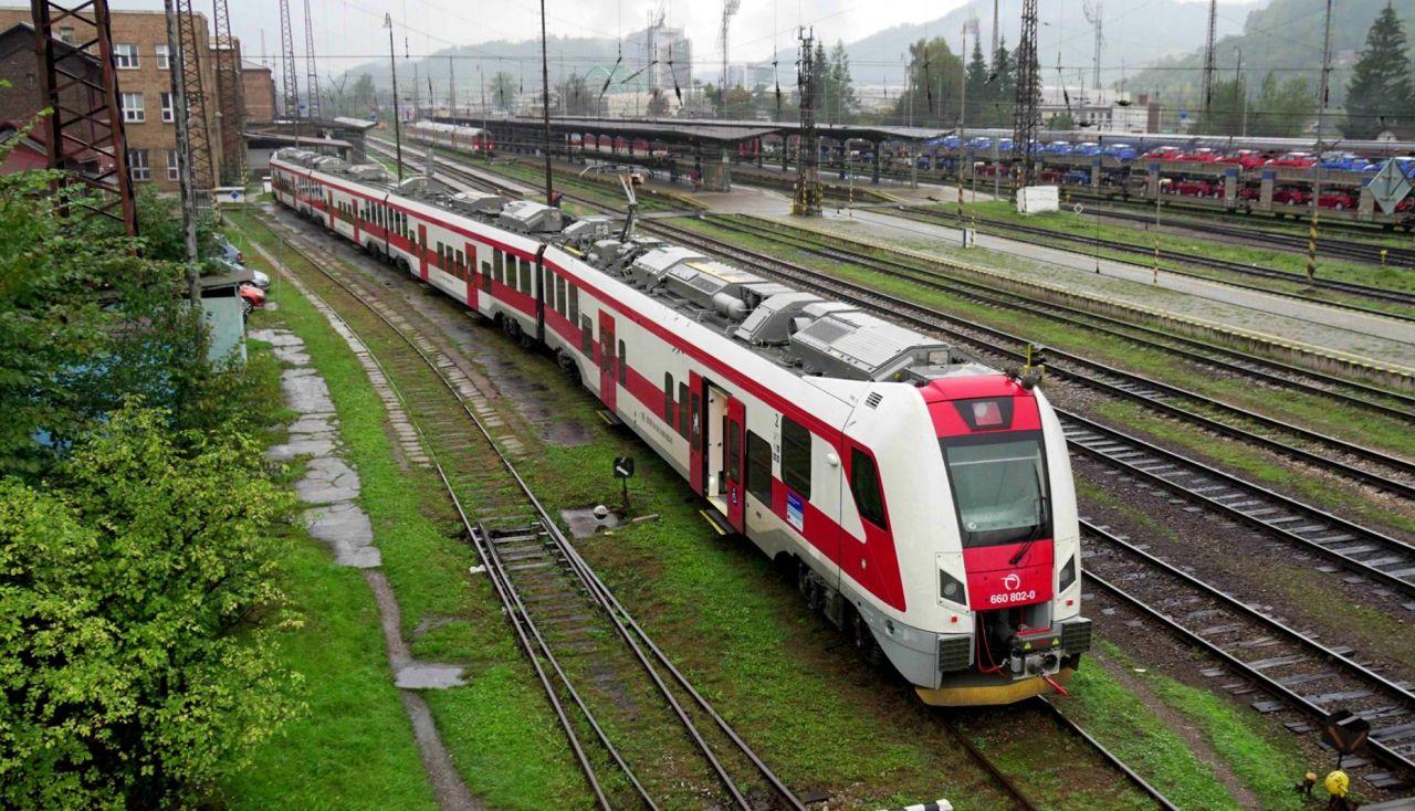 Elektrická jednotka řady 660 v Žilině. Foto: ZSSK