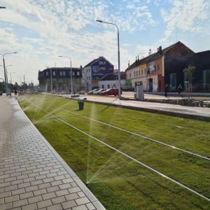 Budování tramvajové trati v Plotní. Foto: FB Tramvaj Plotní