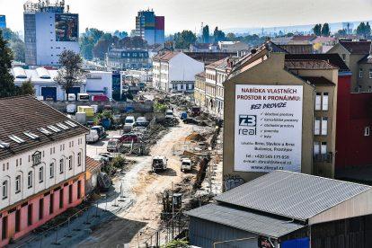 Výstavba v oblasti Dornych / Plotní. Foto: Kopemezabrno.cz