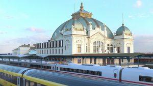 Nádražní budova Plzeň, vizualizace. Pramen: Správa železnic
