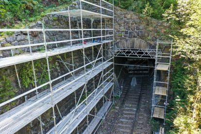 Rekonstrukce Podhradského tunelu. Foto: Správa železnic
