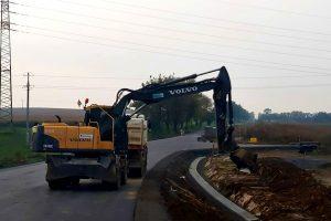 Výstavba silnice u Pohořelic. Foto: Informační centrum Napajedla