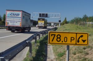 Kamiony na Pražském okruhu D0. Foto: ŘSD