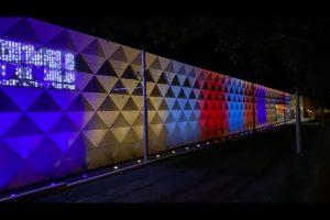 Vizualizace osvětlení haly v Pisárkách pro přelom roku. Foto: DPMB