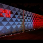 Vizualizace osvícení budovy haly v Pisárkách k připomenutí 28. října. Foto: DPMB