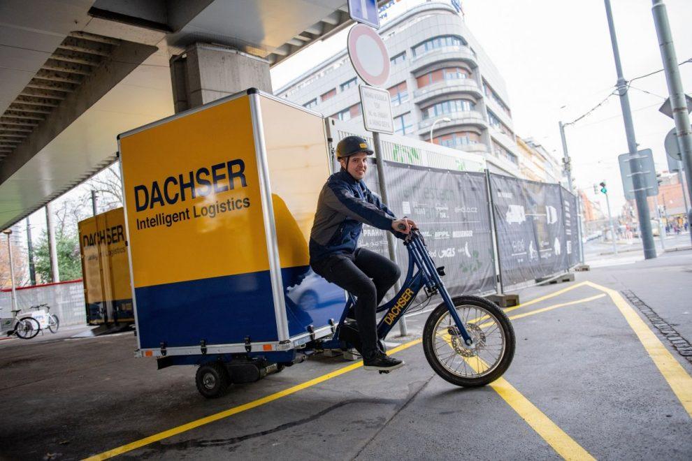 Nákladní kolo pro rozvoz zboží po centru Prahy. Foto: Dachser
