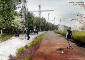 Nová podoba staré benešovské tratě v Praze. Pramen: IPR Praha