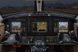 Kokpit malého letadla. Foto: Honeywell Aerospace