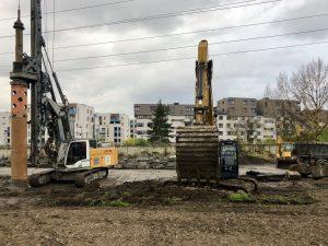 Vozovna Hloubětín, zahájení stavby. Autor: DPP - Daniel Šabík