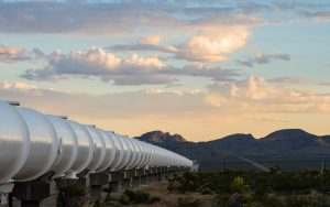 Testovací trouba hyperloopu. Pramen: Virgin Hyperloop