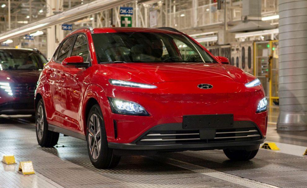 Hyundai Kona Electric sjíždí z výrobní linky v Nošovicích. Foto: HMMC