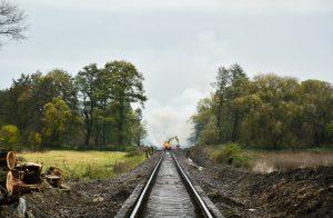 Oprava trati Zadní Třebaň - Lochovice. Pramen: Správa železnic