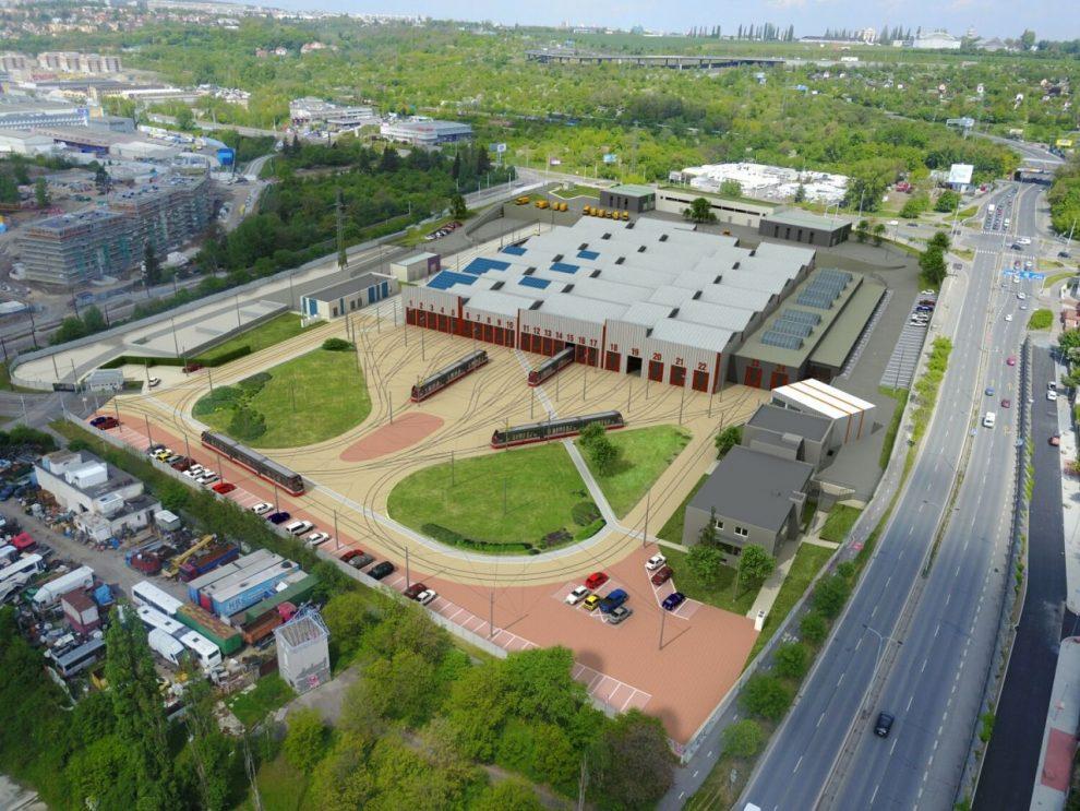 Vizualizace nové Vozovny Hloubětín. Foto: DPP