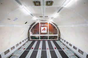 Interiér A321P2F po přestavbě. Foto: Airbus