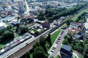 Letecký pohled na místo podchodu v Blansku. Foto: Blansko.cz